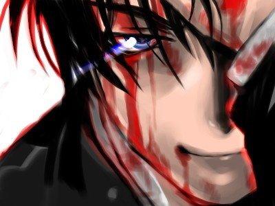 аниме картинки парней с кровью: